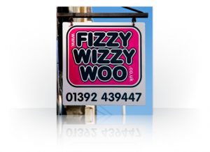 Signage fizzyhang