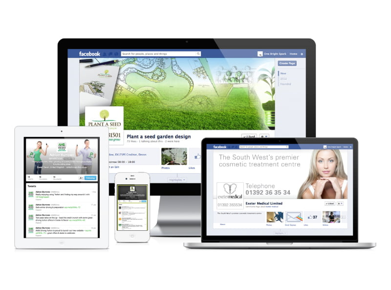 Social Media design, branding & strategy from Exeter's One Bright Spark