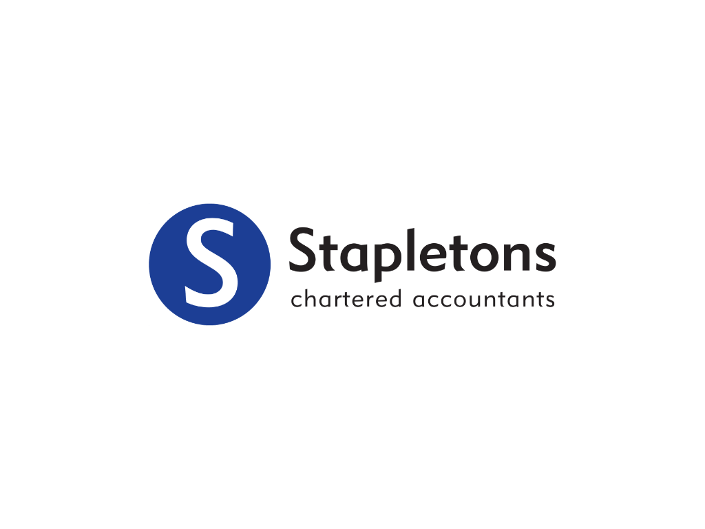 Stapletons Accountancy Logo - Client of Exeter website & logo designer One Bright Spark