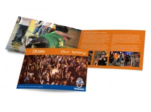 TR14ers Truro Dance Project in Cornwall booklet graphic design & print by One Bright Spark of Exeter, Devon