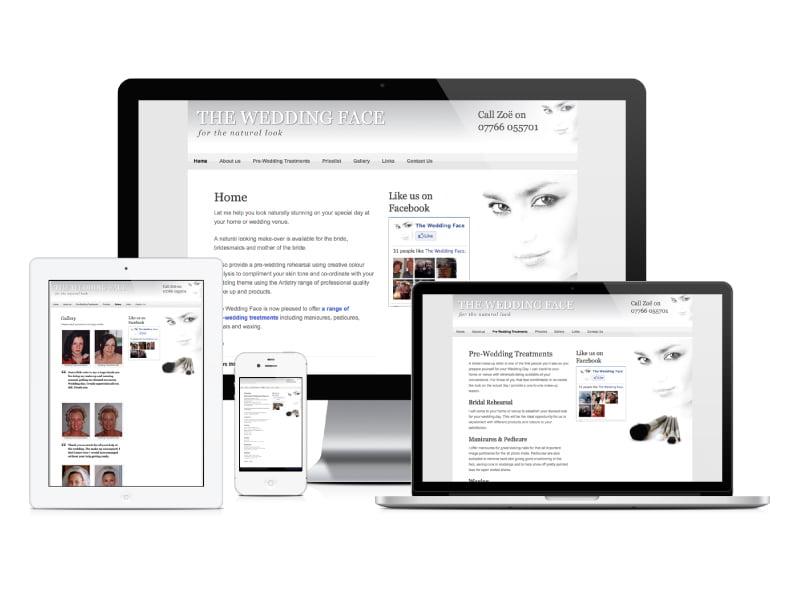 The Wedding Face website