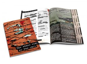 The other side of the wall - a prisoners story booklet graphic design & print by One Bright Spark of Exeter, Devon