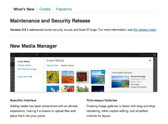 website software updates