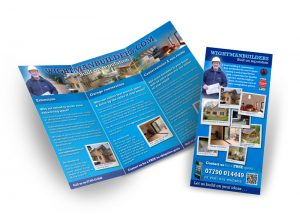 Wightman Builders flyer graphic design & print by One Bright Spark of Exeter, Devon