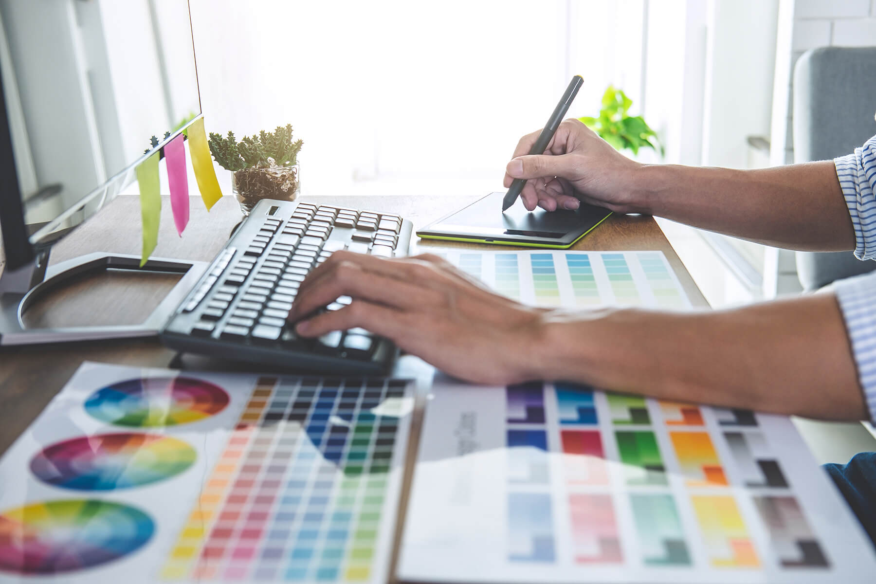 Work with a Graphic Designer Exeter One Bright Spark for print and design