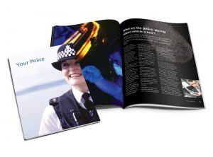 Your Police booklet graphic design & print by One Bright Spark of Exeter, Devon