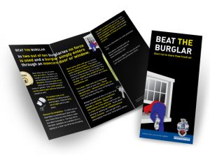 Devon & Cornwall Police Beat the Burglar DL leaflet graphic design by Exeter based One Bright Spark