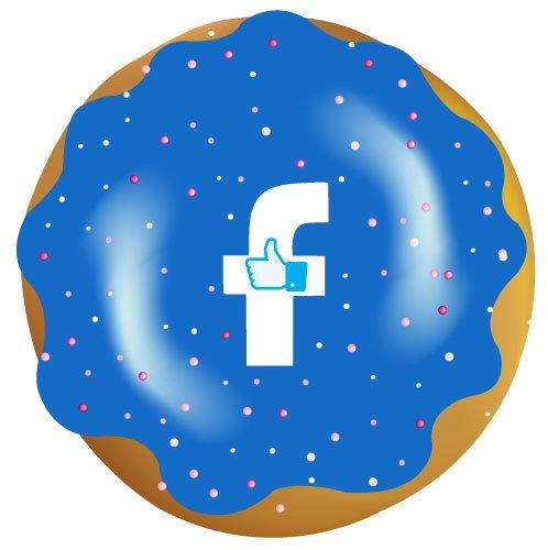 Facebook donut