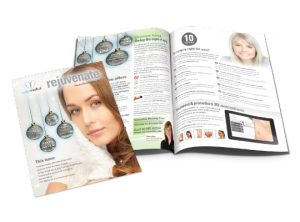 Exeter Medical Rejuvenate magazine graphic design by Exeter based One Bright Spark