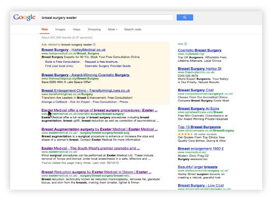 search engine optimisation by Exeter's One Bright Spark