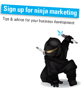 Become a marketing ninja by signing up for one bright sparks