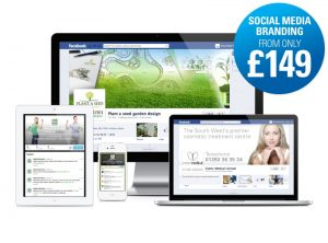 Great value cost effective social media branding from only £149 from One Bright Spark, Exeter
