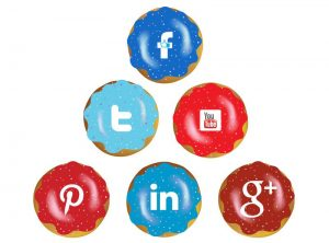 Social media explained with donuts by One Bright Spark