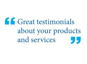 web page testimonials in your site design